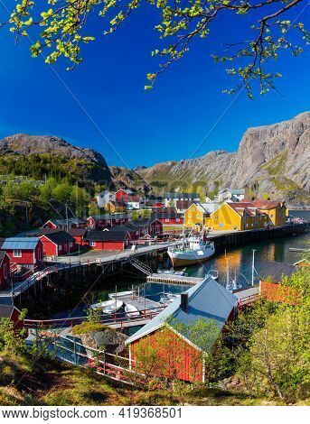 Nusfjord fishing village The Famous Place in Lofoten Island, Norway