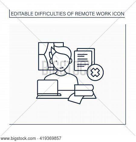 Remote Work Line Icon. Tribal Knowledge. Lack Of Documentation. Organization Collective Wisdom.caree