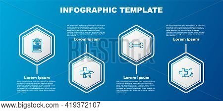 Set Line Clinical Record Pet, Veterinary Clinic, Dog Bone And . Business Infographic Template. Vecto