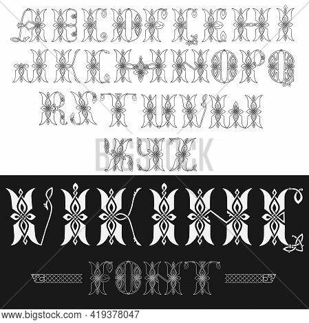 Author S Stylish Celtic Font With Patterns. Celtic Knot.