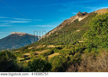 Landscape View At Saint Baudille Et Pipet, Local Authorities Association Of Trieves In Vercors, Fren