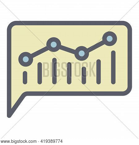 Chart Chatbot Icon. Outline Chart Chatbot Vector Icon For Web Design Isolated On White Background
