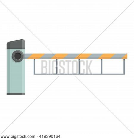 Automatic Barrier Icon. Cartoon And Flat Of Automatic Barrier Vector Icon For Web Design Isolated On