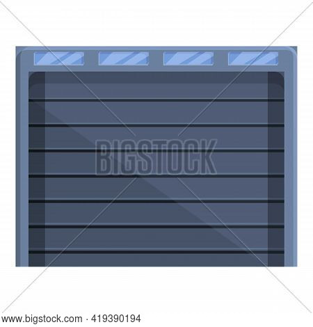 Garage Automatic Gate Icon. Cartoon And Flat Of Garage Automatic Gate Vector Icon For Web Design Iso