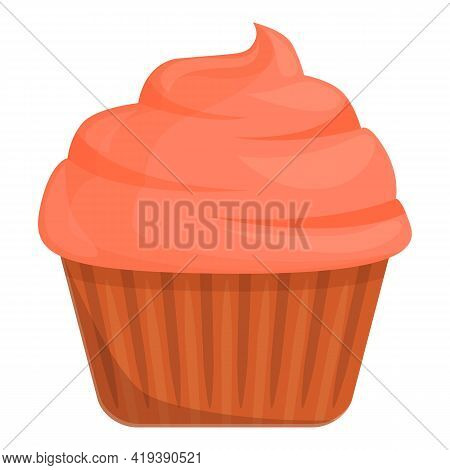 Homemade Muffin Icon. Cartoon And Flat Of Homemade Muffin Vector Icon For Web Design Isolated On Whi