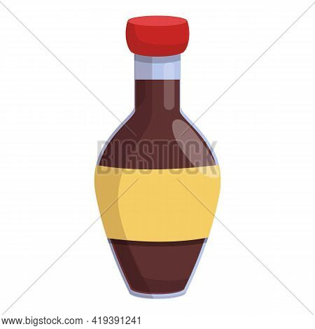 Traditional Soy Sauce Icon. Cartoon And Flat Of Traditional Soy Sauce Vector Icon For Web Design Iso