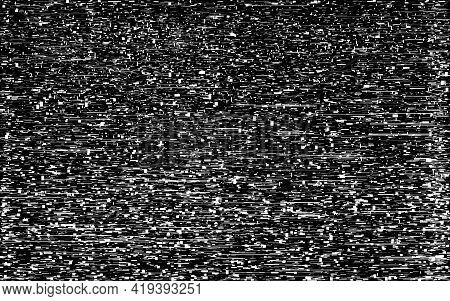 Glitch Noise Effect. Broken Video Signal. White Noise Texture. Abstract Static Tv Template. Analog T