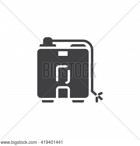 Knapsack Sprayer Vector Icon. Filled Flat Sign For Mobile Concept And Web Design. Garden Knapsack Gl