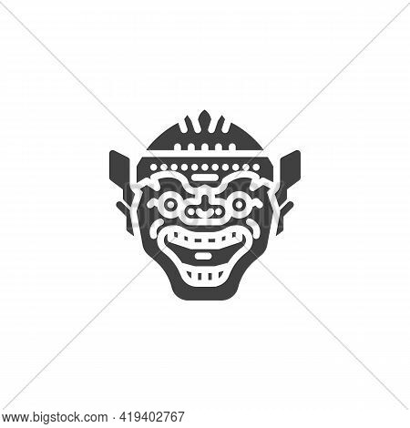 Thai Mask Vector Icon. Filled Flat Sign For Mobile Concept And Web Design. Thai Giant Monster Mask G