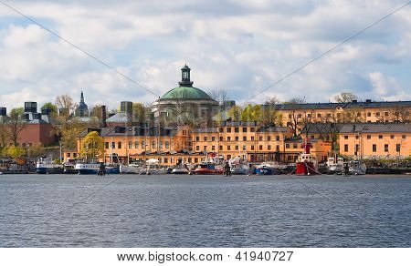 Yachts On The Stockholm Waterfront