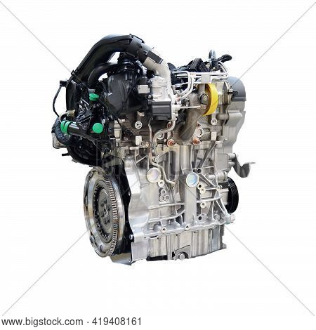 Car Engine Isolated On A White Background