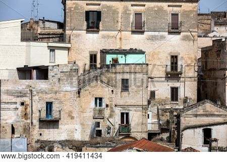 The Historic Center Of A Gravina In Puglia. A Charming Town In Southern Italy.