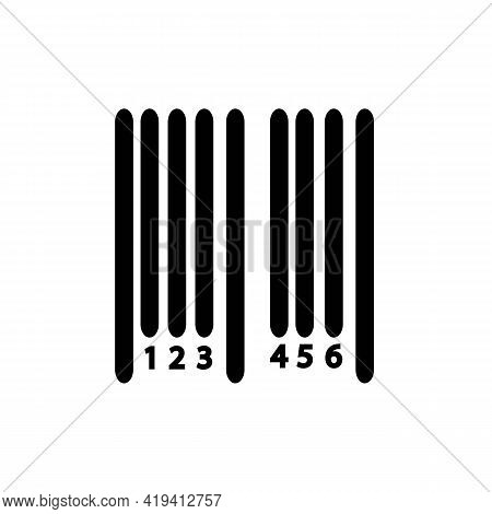 Barcode Sample Line Icon In Black For Smartphone Scanning. Isolated On White Background. Illustratio