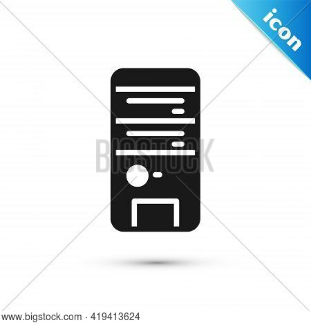 Grey Computer Icon Isolated On White Background. Pc Component Sign. Vector