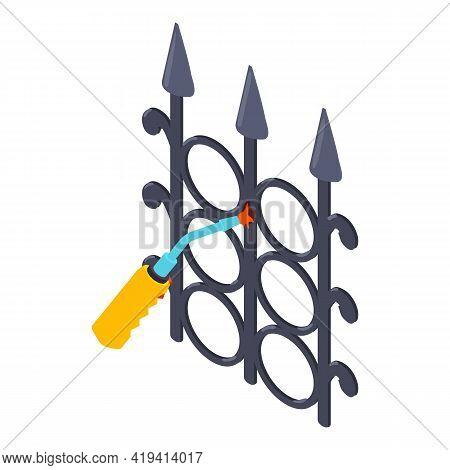 Welding Work Icon. Isometric Illustration Of Welding Work Vector Icon For Web