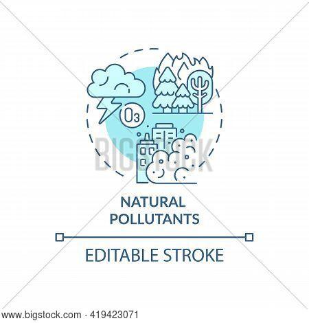 Natural Pollutants Concept Icon. Outdoor Air Pollutant Idea Thin Line Illustration. Anthropogenic Po