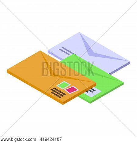 Email Assistant Icon. Isometric Of Email Assistant Vector Icon For Web Design Isolated On White Back