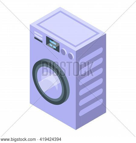 Washing Assistant Icon. Isometric Of Washing Assistant Vector Icon For Web Design Isolated On White