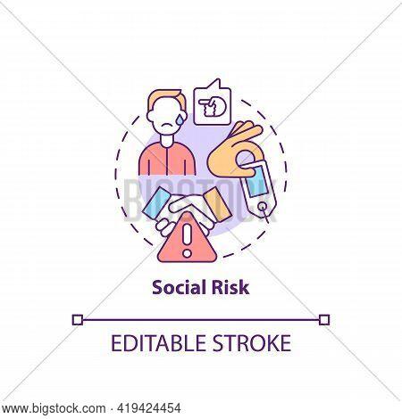 Social Risk Concept Icon. Purchase Risk Factor Idea Thin Line Illustration. Status Impact. Reputatio