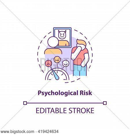 Psychological Risk Concept Icon. Purchase Risk Factor Idea Thin Line Illustration. Involving In Purc