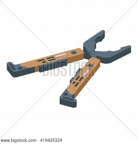 Compact Multitool Icon. Isometric Of Compact Multitool Vector Icon For Web Design Isolated On White