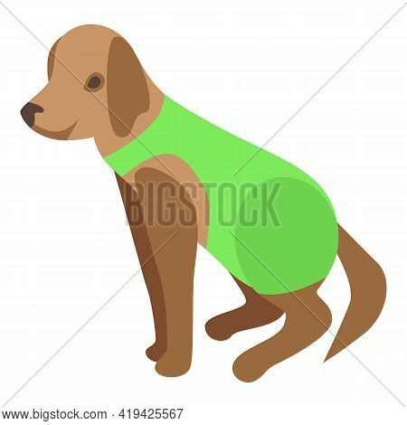 Puppy Dress Icon. Isometric Of Puppy Dress Vector Icon For Web Design Isolated On White Background