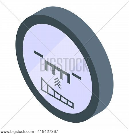 Rifle Sight Icon. Isometric Of Rifle Sight Vector Icon For Web Design Isolated On White Background