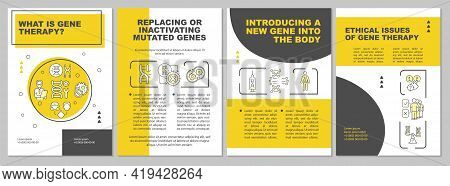 What Is Gene Therapy Brochure Template. Treating Mutated Genes. Flyer, Booklet, Leaflet Print, Cover
