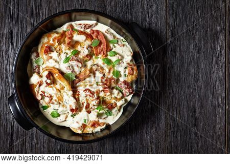 Marry Me Chicken, Chicken Breasts Sauteed In Cream Sauce With Sundried Tomatoes, Thyme, Red Pepper F