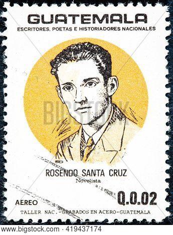 Guatemala - Circa 1986: Postage Stamp Printed In Guatemala Shows A Rosendo Santa Cruz, From The Seri