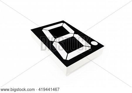 Single Led Or Light-emitting Diode Digital Indicator On White Background