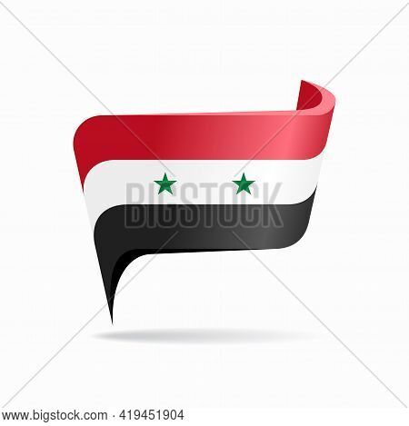 Syrian Flag Map Pointer Layout. Vector Illustration.