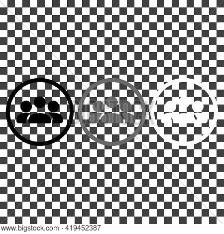 Society Or Team Line Icon In Black, Grey, White. Communication Concept. Flat Style Isolated Symbol,
