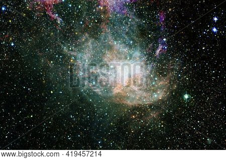 Nebula, Cluster Of Stars In Deep Space. Elements Of This Image Furnished By Nasa