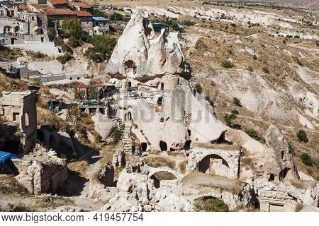 Uchisar, Turkey - October 4, 2020: This Is One Of The Residential Houses-caves In Rocks Of Volcanic