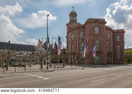 View Of Paulsplatz With St. Pauls Church, Frankfurt, Germany