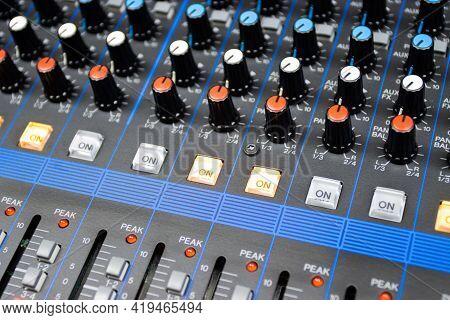 Audio Control Buttons Sound Control Hi Fi System The Audio Equipment, Control Panel Of Digital Studi