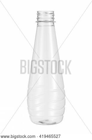 Plastic Beverage Bottle Disposable (with Clipping Path) Isolated On White Background