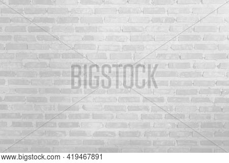 The White Brick Wall Is Very Beautiful. The Softness Of The White Brick Wall For The Background. The