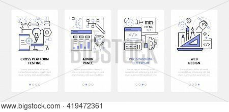 Web Development - Modern Line Design Style Web Banners