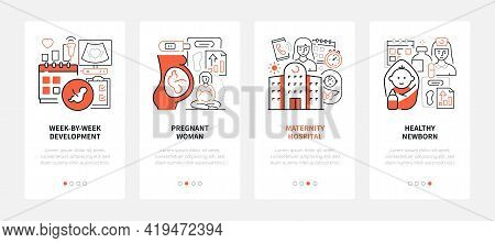 Pregnancy - Modern Line Design Style Web Banners