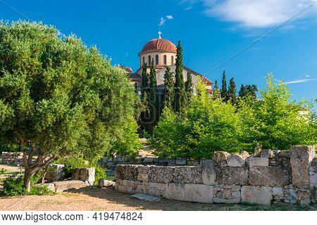 Greek Orthodox Church In Athens, Greece