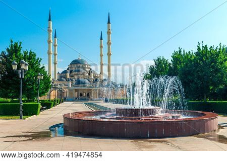 The Akhmad Kadyrov Mosque In Grozny - Chechnya, Russia