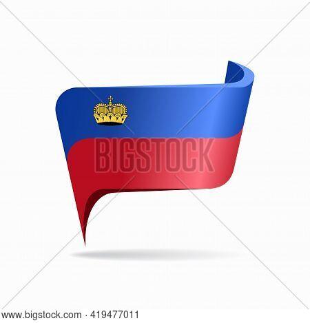 Liechtenstein Flag Map Pointer Layout. Vector Illustration.