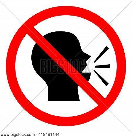 Symbol Keep Silence Symbol On White Background