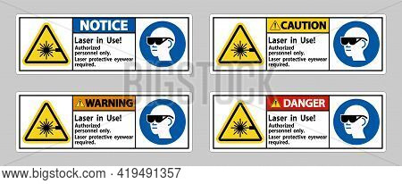 Laser In Use Authorized Personnel Only Laser Protec
