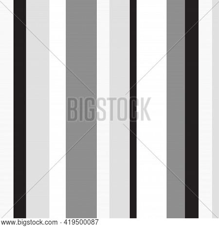 Stripe Pattern. Seamless Texture With Many Lines. Geometric Texture With Stripes. Black And White Il