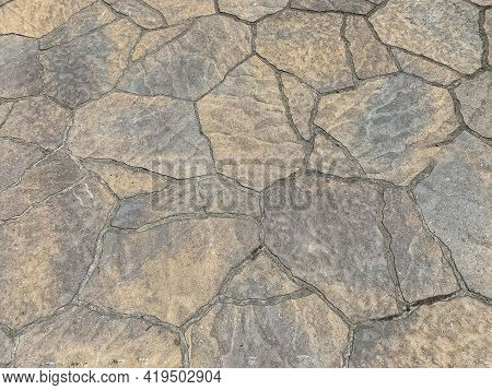 Decorative Driveway Pattern Rock Granite Stone Effect Construction Background