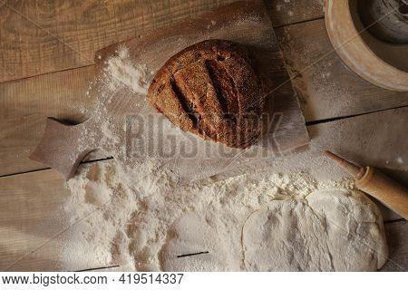 Freshly Baked Whole Wheat Bread. Bread Is Black. Bread Slices. Narzen Bread. Bread Wood. Bread On Th