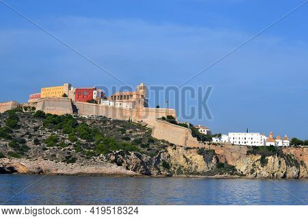 Old Town On The Island Of Ibiza